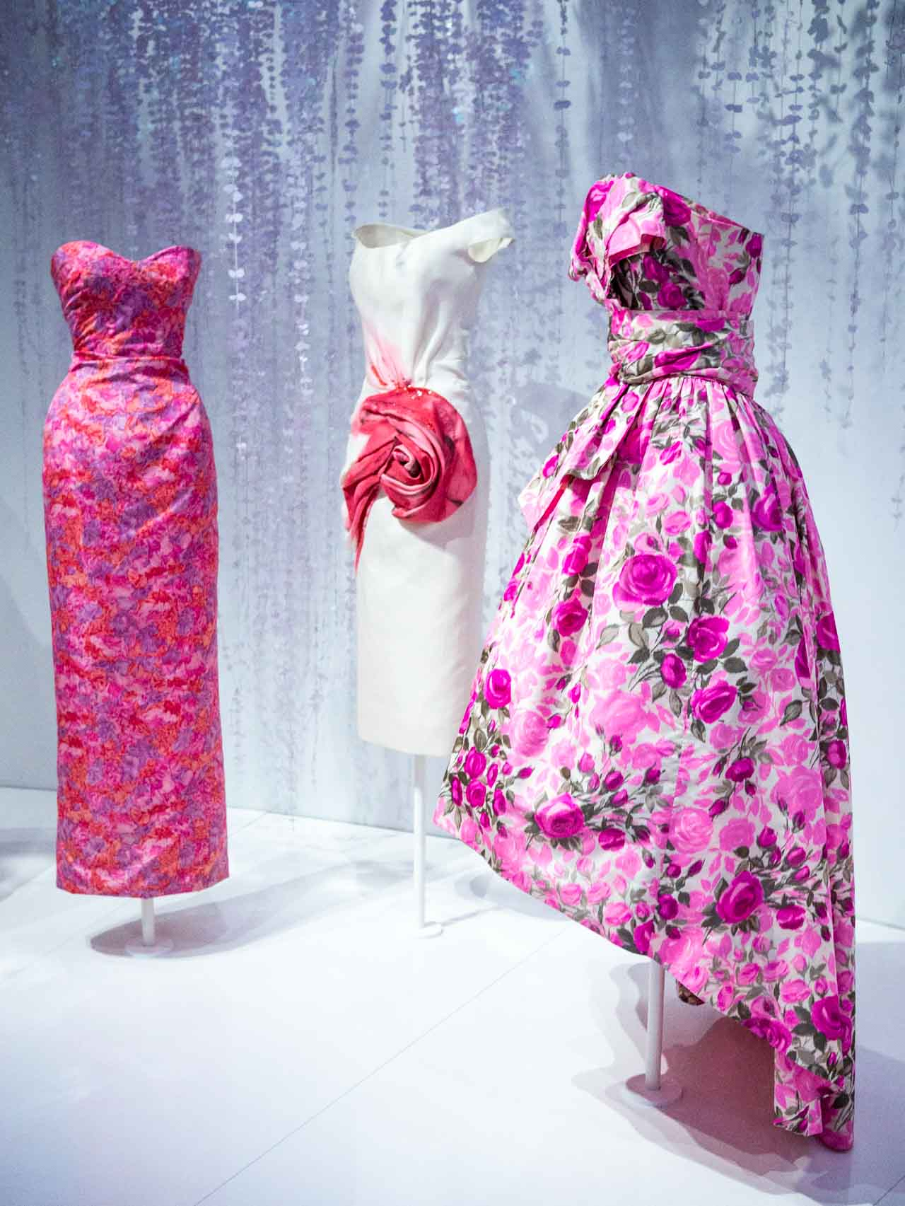 Designs inspired by Dior's love of the garden. Christian Dior: Designer of Dreams. Taken at the V&A exhibition © The Cutting Class, 2019.