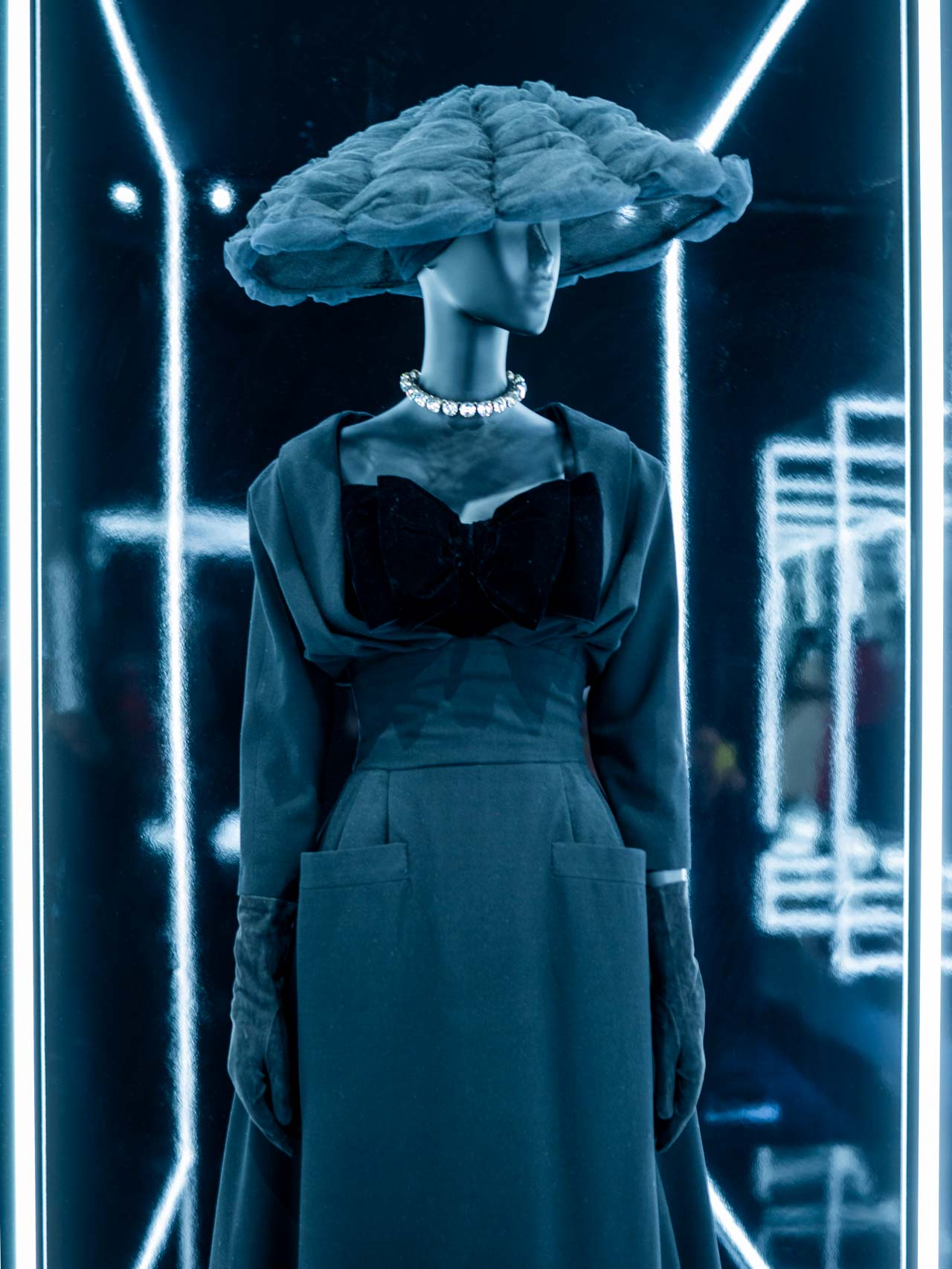 Maxim's ensemble designed by Christian Dior and named after the fashionable Parisian café. Taken at the V&A exhibition © The Cutting Class, 2019.