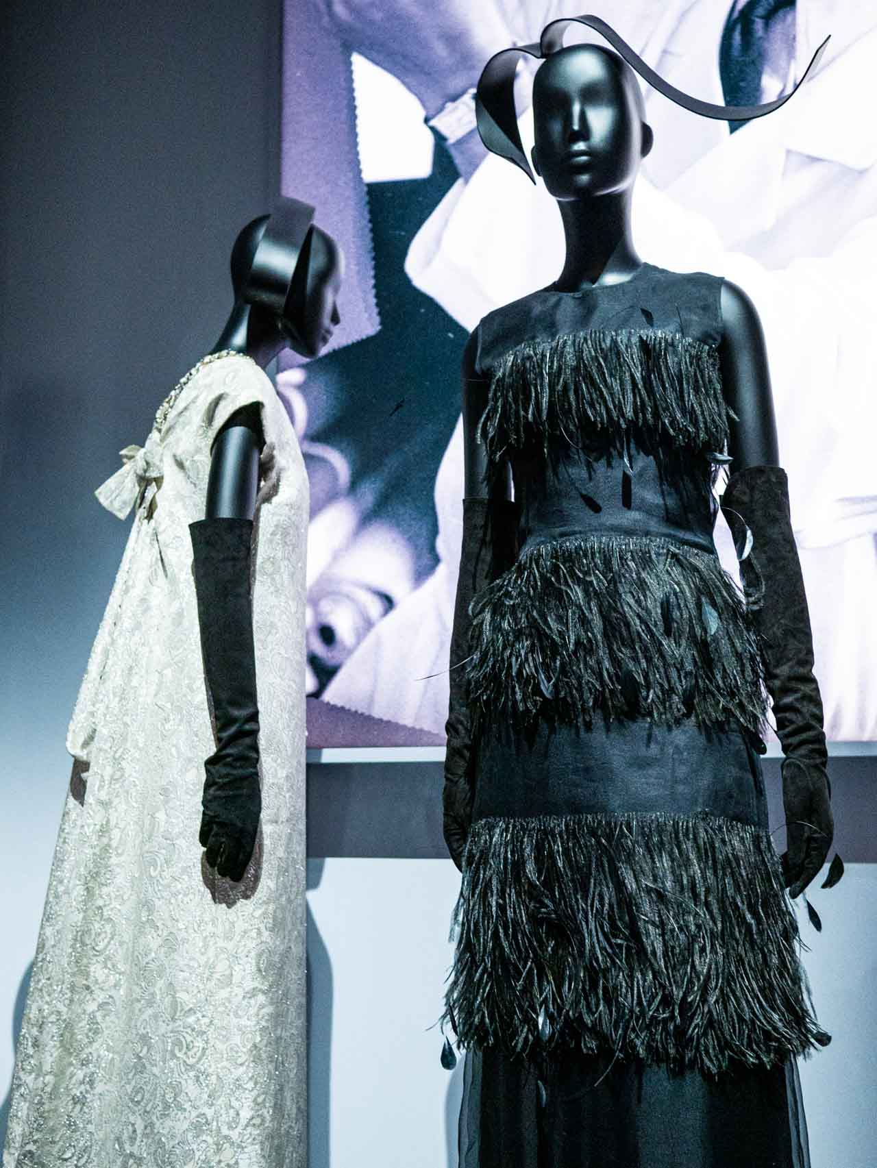 Designs by Marc Bohan for Christian Dior. Taken at the V&A exhibition © The Cutting Class, 2019. Image 2.