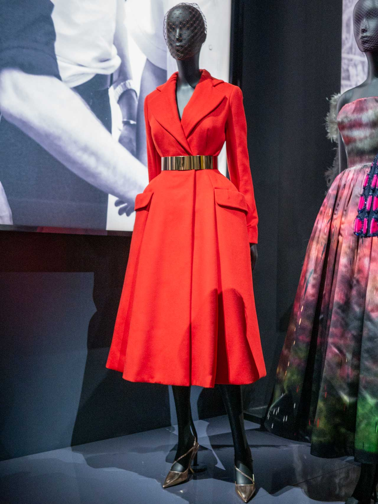 Christian Dior by Raf Simons. Haute Couture, Autumn-Winter 2012. Red wool cashmere coat. Image 1.
