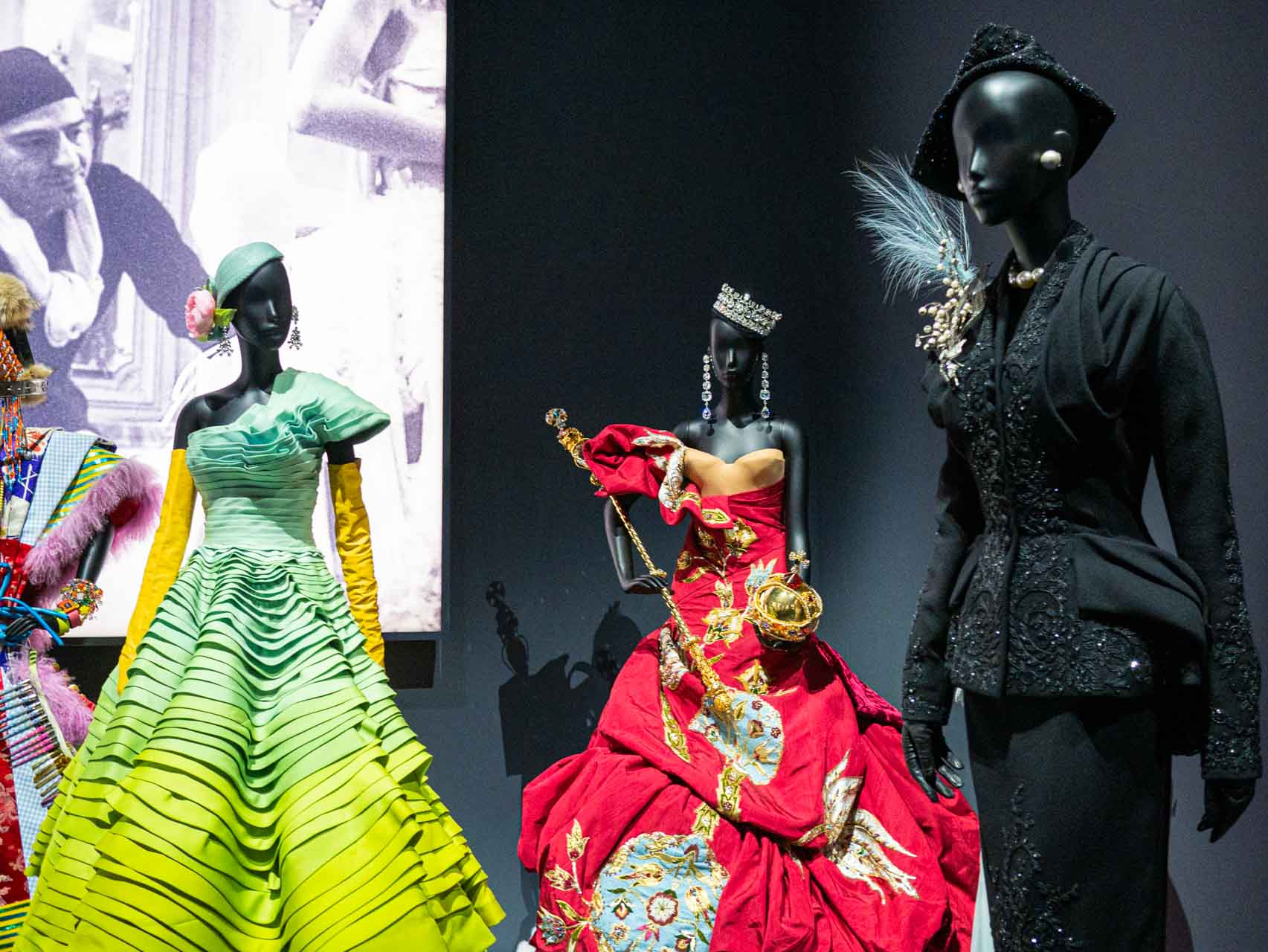 Designs by John Galliano for Christian Dior. Taken at the V&A exhibition © The Cutting Class, 2019.