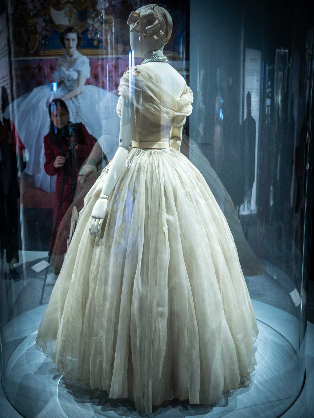 Dress designed for Princess Margaret by Christian Dior at the V&A Exhibition. © The Cutting Class, 2019. Image 2.