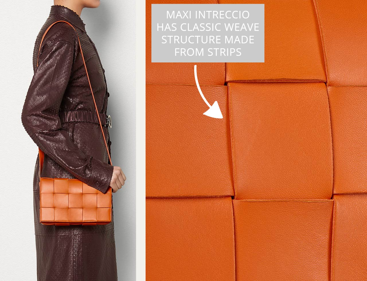 Bottega Veneta Intrecciato Weave | The Cutting Class. The Cassette bag with Intreccio maxi weave in Burned Orange.