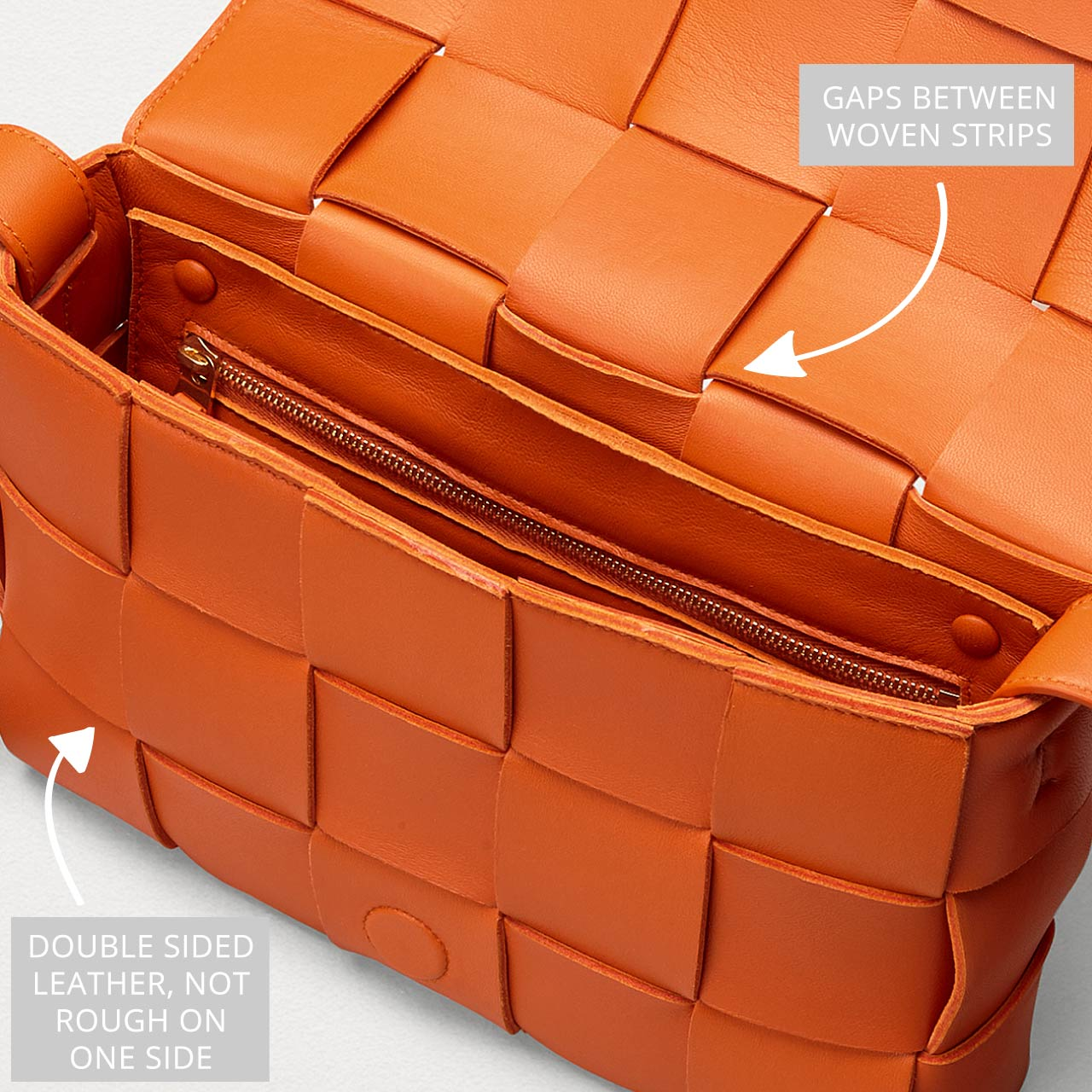 Bottega Veneta Intrecciato Weave | The Cutting Class. The Cassette bag with Intreccio maxi weave in Burned Orange. Made with double-faced leather.