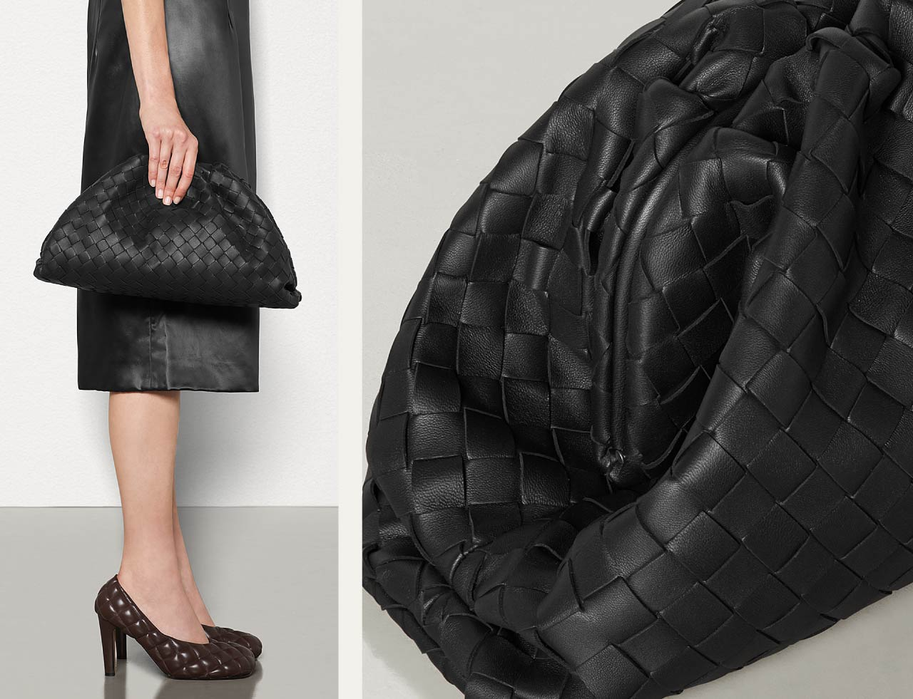 Bottega Veneta Intrecciato Weave | The Cutting Class. The Pouch bag in Nero.