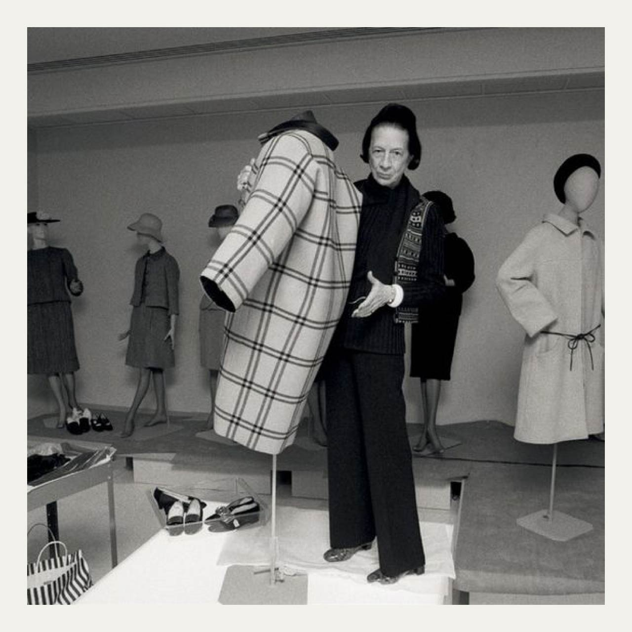 Couture Sensibilities at Botter and Nina Ricci | The Cutting Class. Diana Vreeland at a Balenciaga exhibition 1973.