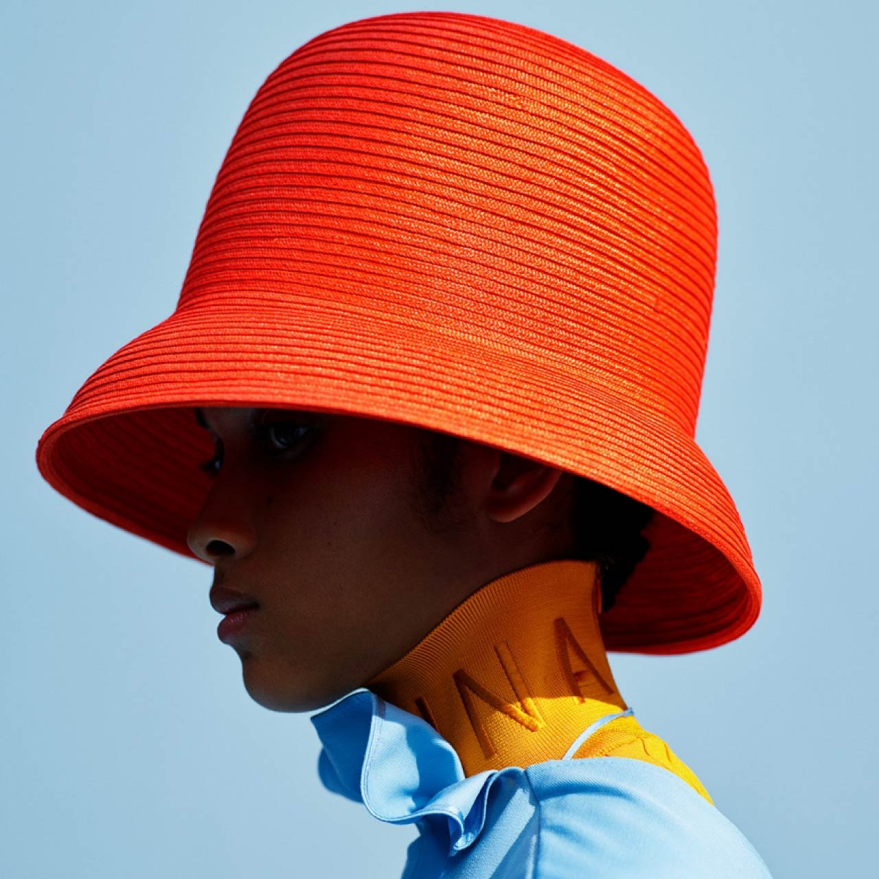Couture Sensibilities at Botter and Nina Ricci | The Cutting Class. Nina Ricci, Spring 2020. Bold red cloche hat.