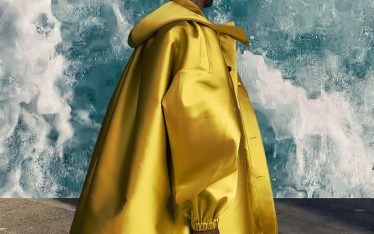 Couture Sensibilities at Botter and Nina Ricci | The Cutting Class. Botter, Menswear, SS20. Golden hooded coat.