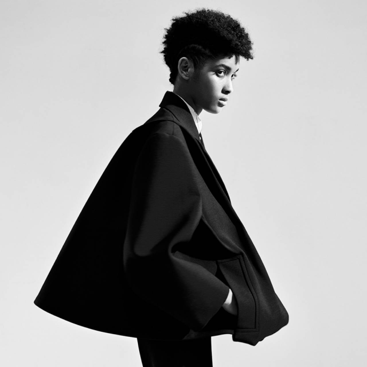 Couture Sensibilities at Botter and Nina Ricci | The Cutting Class. Nina Ricci, SS20. Black swing coat.