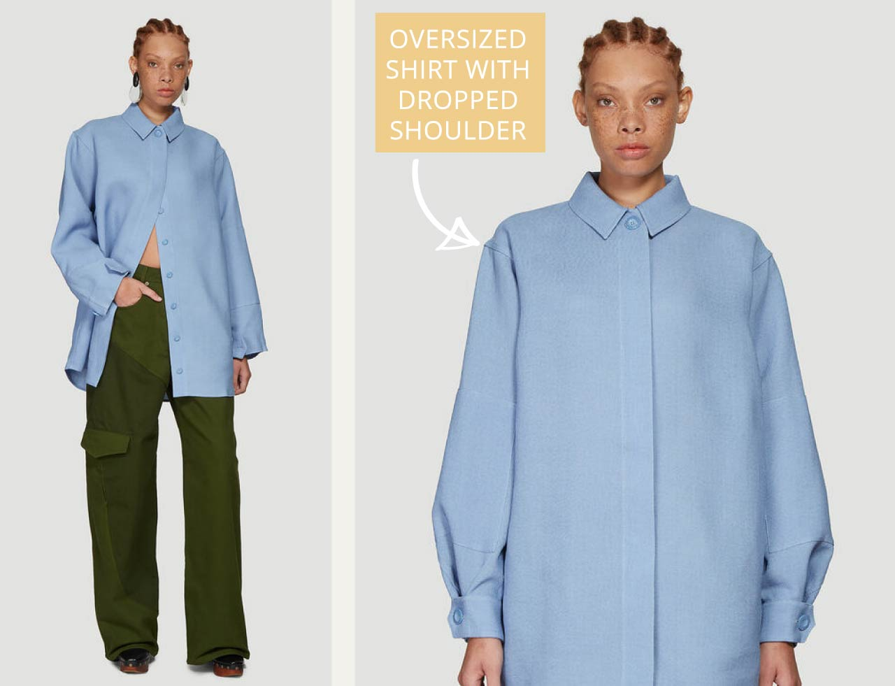 Details on Jacquemus Raw Silk Shirt | The Cutting Class. Jacquemus AW19 'La chemise Loya' with dropped shoulder.