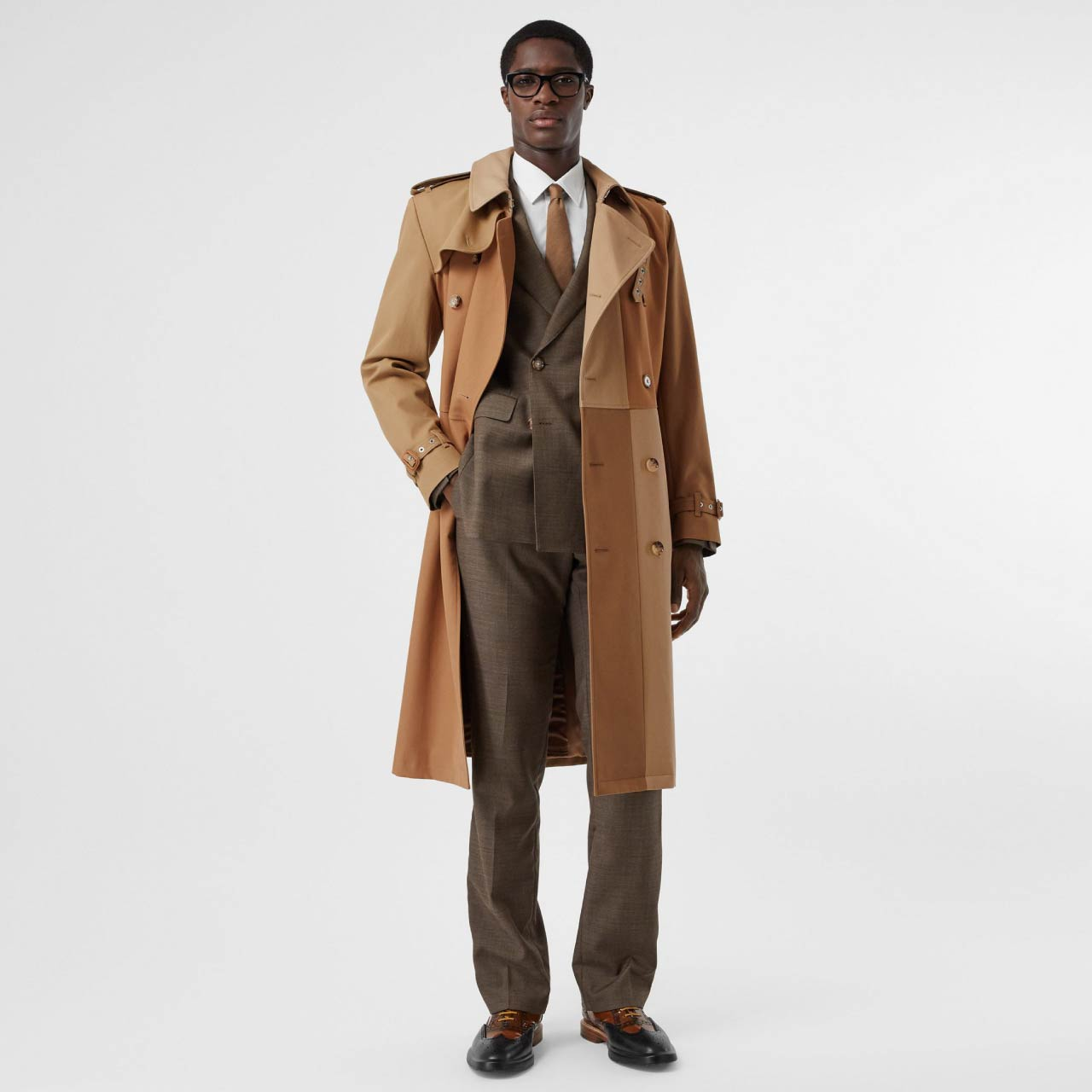 Burberry Trench Coat Details| The Cutting Class. Men's double-breasted trench coat with tonal panels.