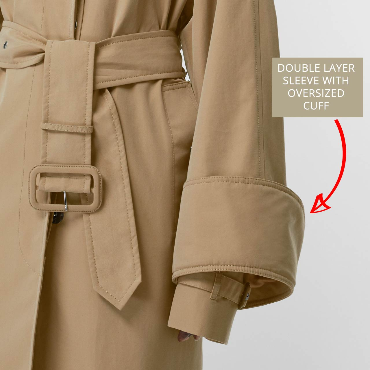 Burberry car coat with double layer sleeve. The Cutting Class.