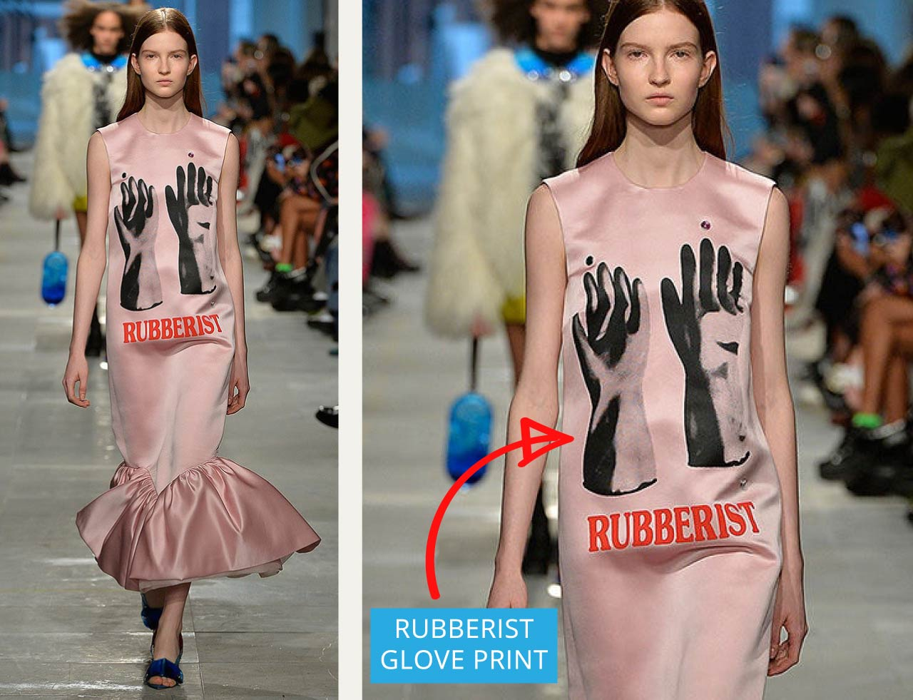 Ladies Who Fetish at Christopher Kane | The Cutting Class. 'Rubberist' print with gloves that almost look like washing up gloves.