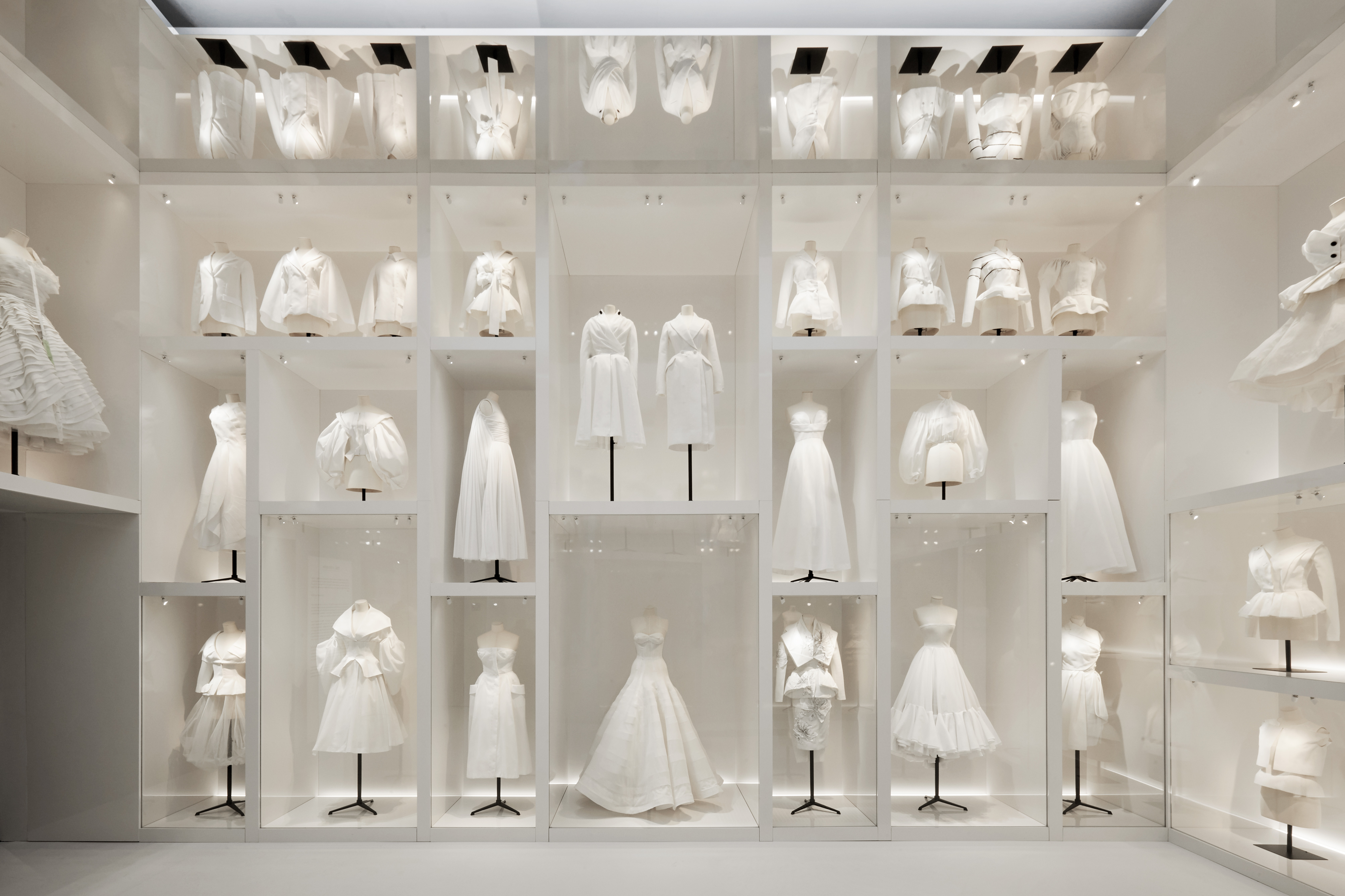 "V&A Christian Dior Exhibition, Atelier Section showing the ""toile room"". © Adrien Dirand."