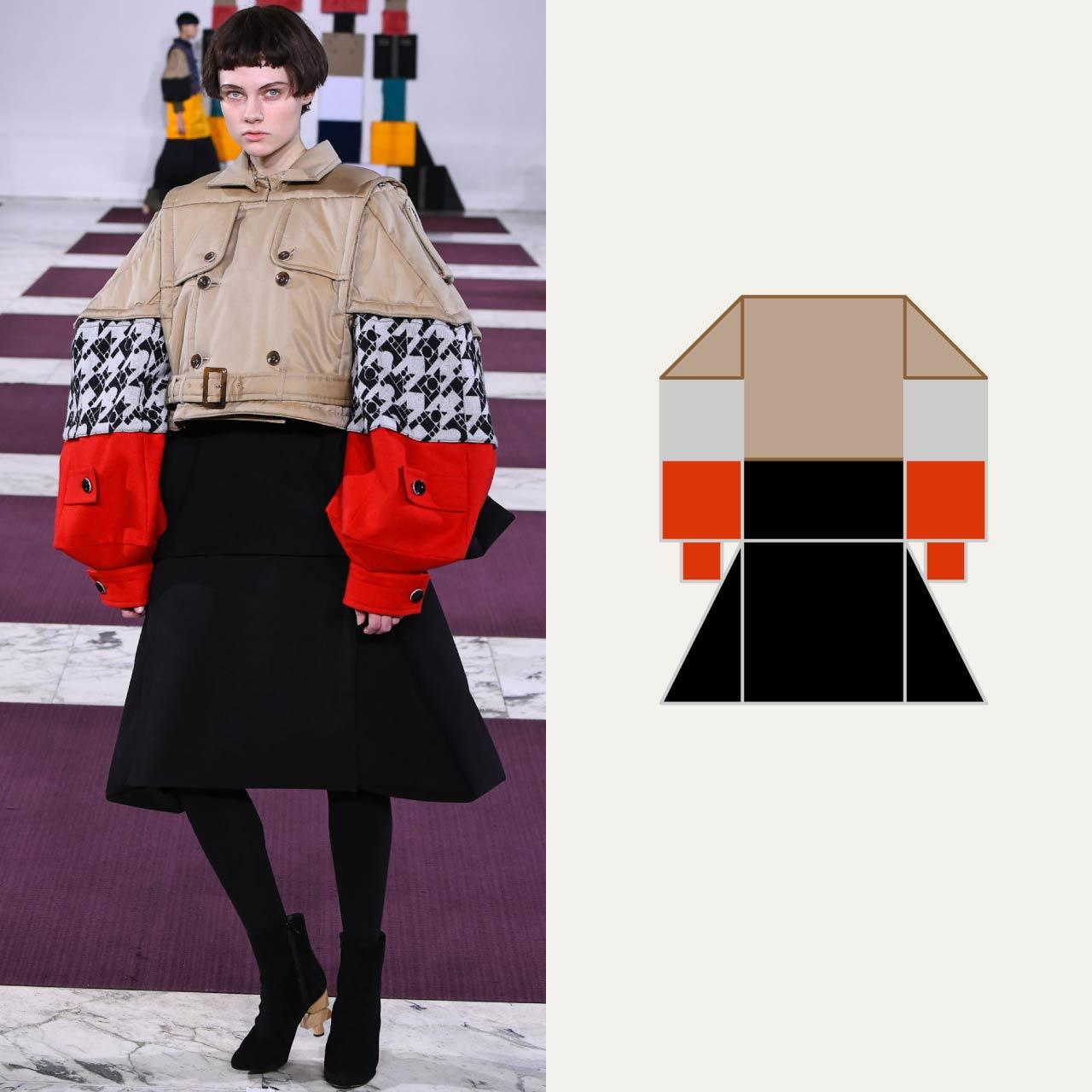 A Modular Anrealage Silhouette Through Blocks | The Cutting Class. Sleeve head turned into triangular blocks, AW20.
