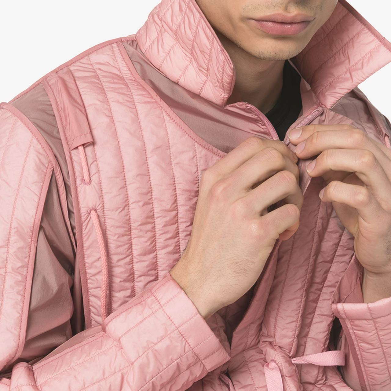 Craig Green Quilted Jacket Details | The Cutting Class. Details on pink SS20 jacket.