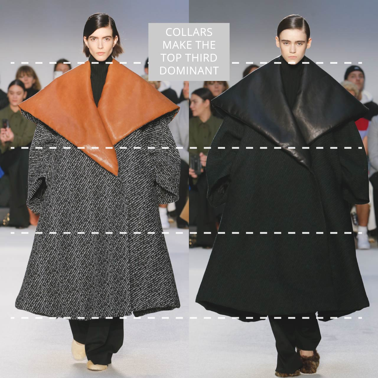 The Rule of Thirds Applied to JW Anderson | The Cutting Class. Collars make the top third dominant. AW20.