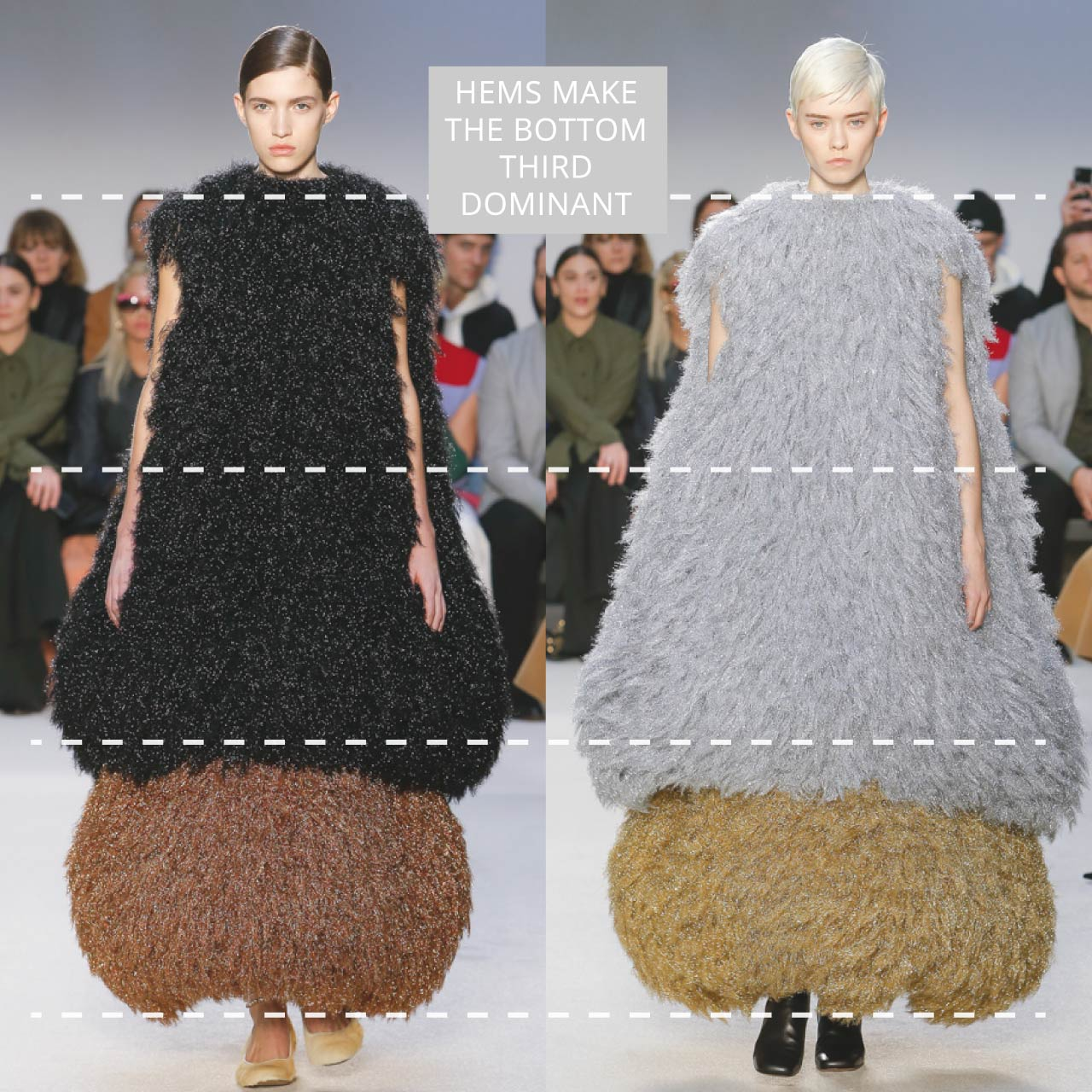 The Rule of Thirds Applied to JW Anderson | The Cutting Class. Hems make the bottom third dominant. AW20.