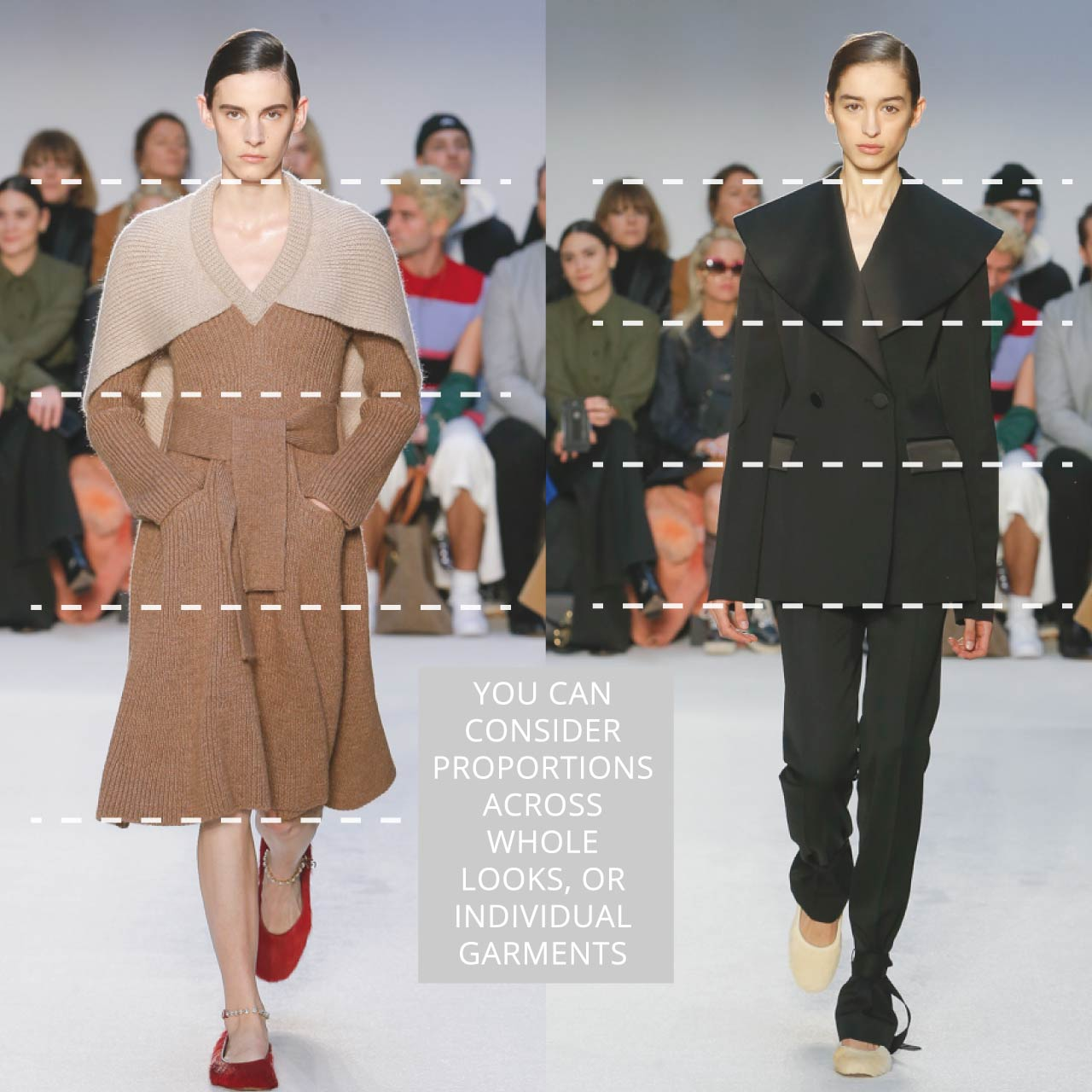 The Rule of Thirds Applied to JW Anderson | The Cutting Class. Consider proportions across whole looks or individual garments.